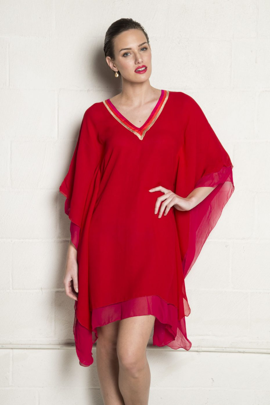 Grace dress, red